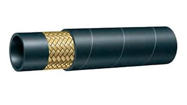 Hydraulic rubber hose with one braid of high-tensile steel wire